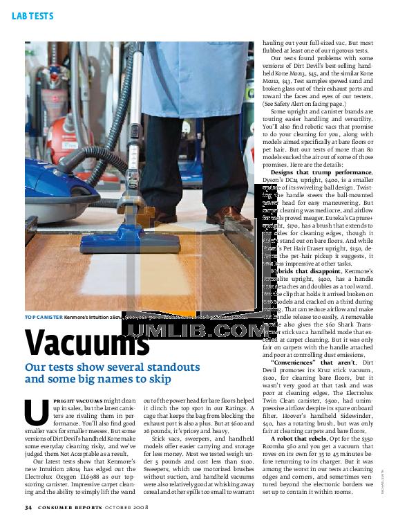 pdf for Bissell Vacuum 3760-1 manual