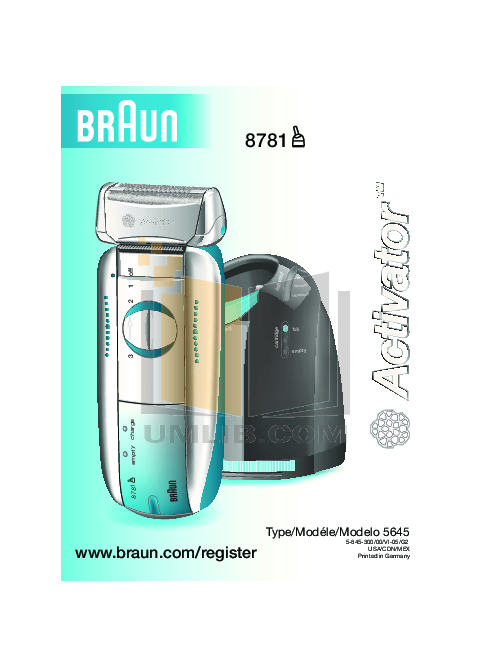 pdf for Braun Other Activator 8781 Shavers manual