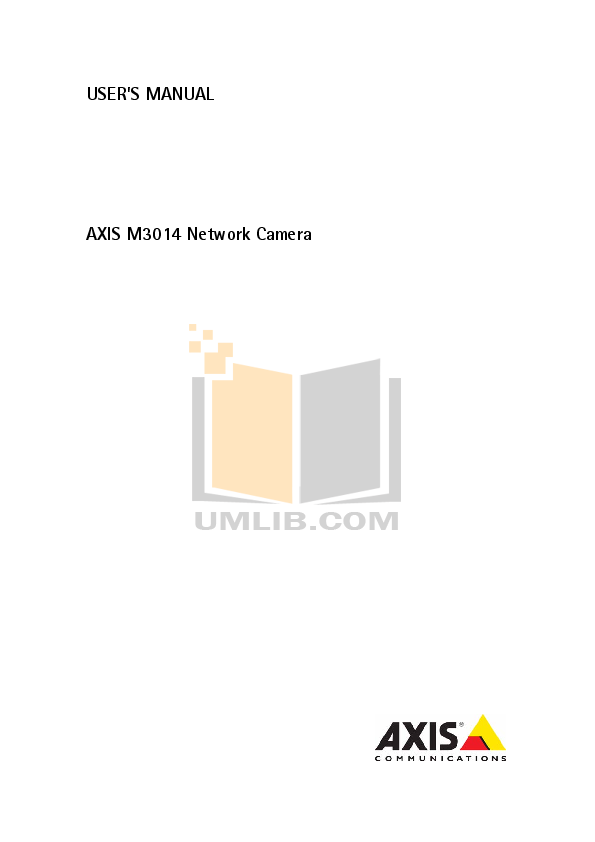 pdf for Axis Security Camera M3014 manual