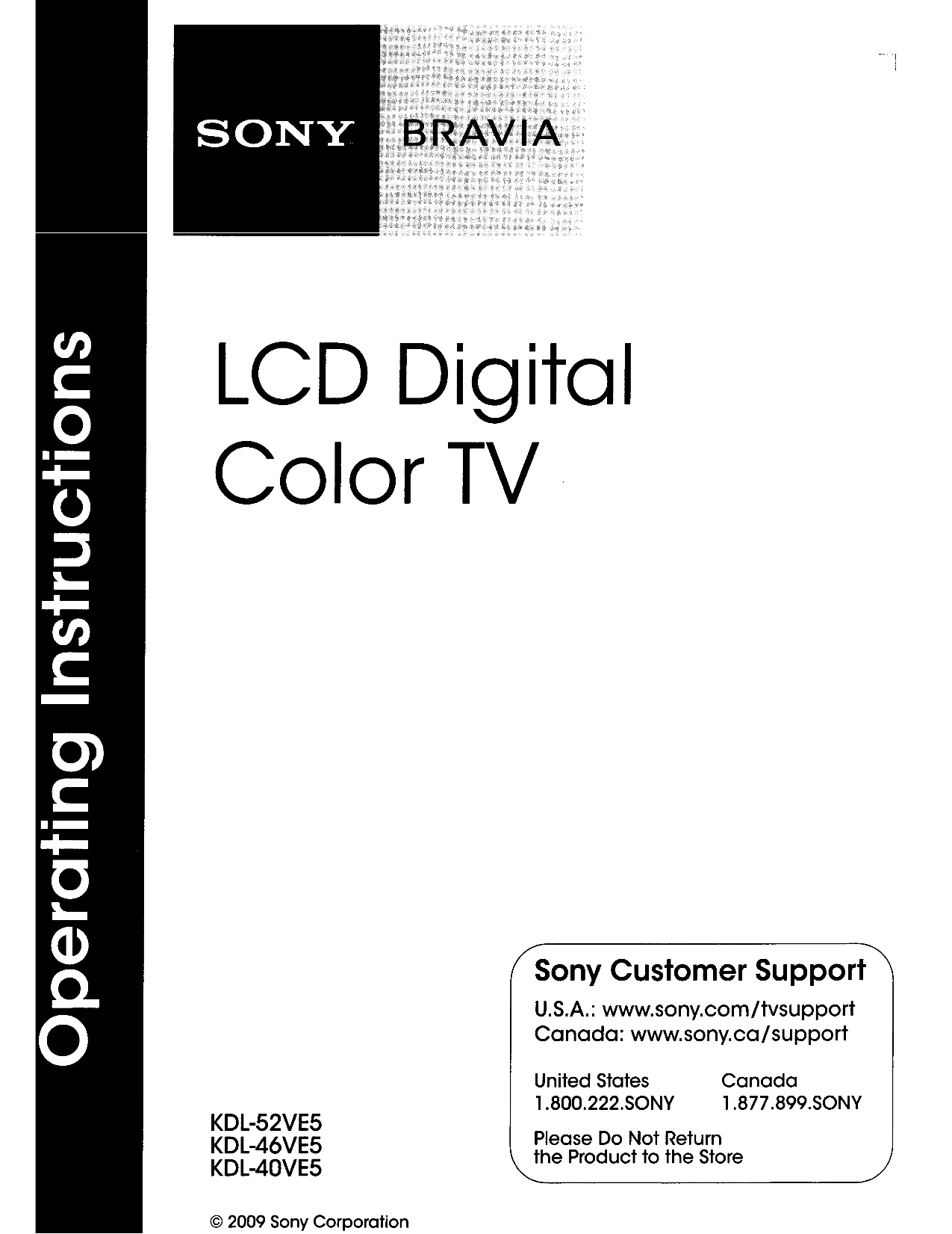 Sony tv user manuals download pdf for sony tv bravia kdl 46ve5 manual fandeluxe Choice Image