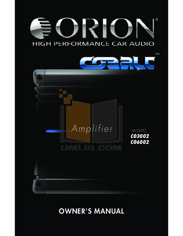 download free pdf for dei orion 6002 car amplifier manual rh umlib com Dei Car Remote Dei Car Remote