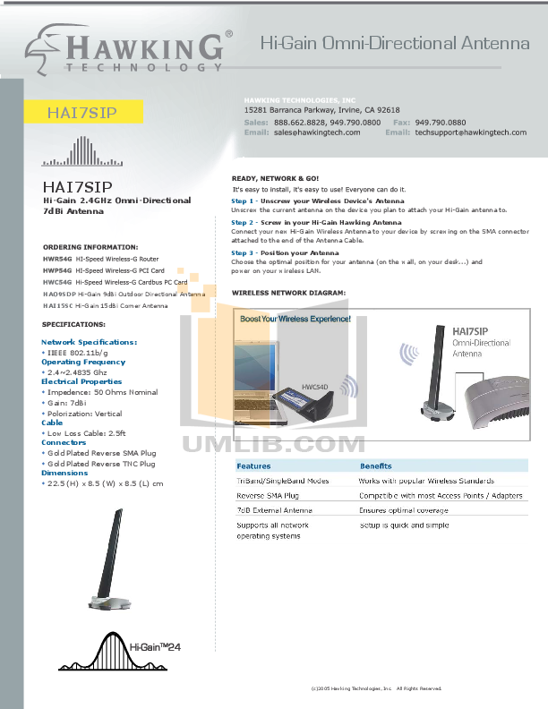 Hawking Router HAI7SIP pdf page preview