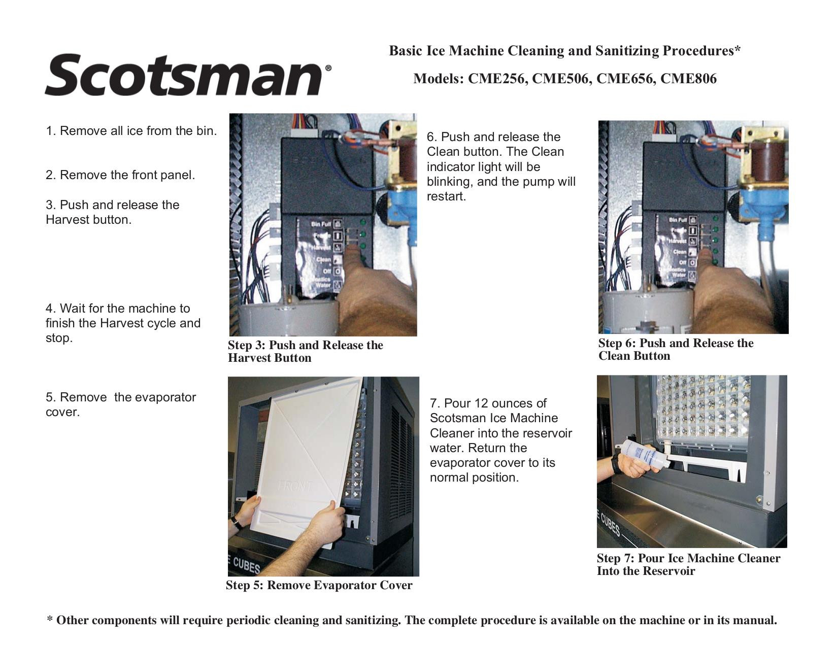 scotsman machine manuals