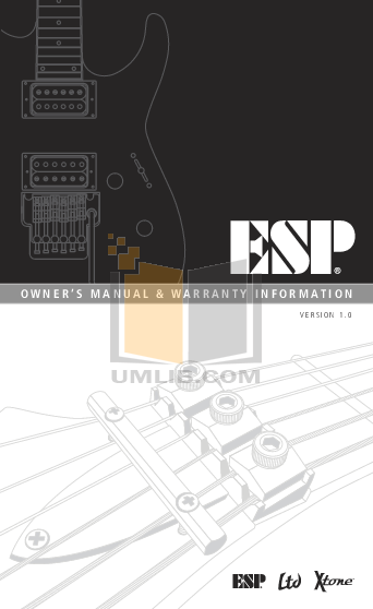 pdf for ESP Guitar PS-1 manual