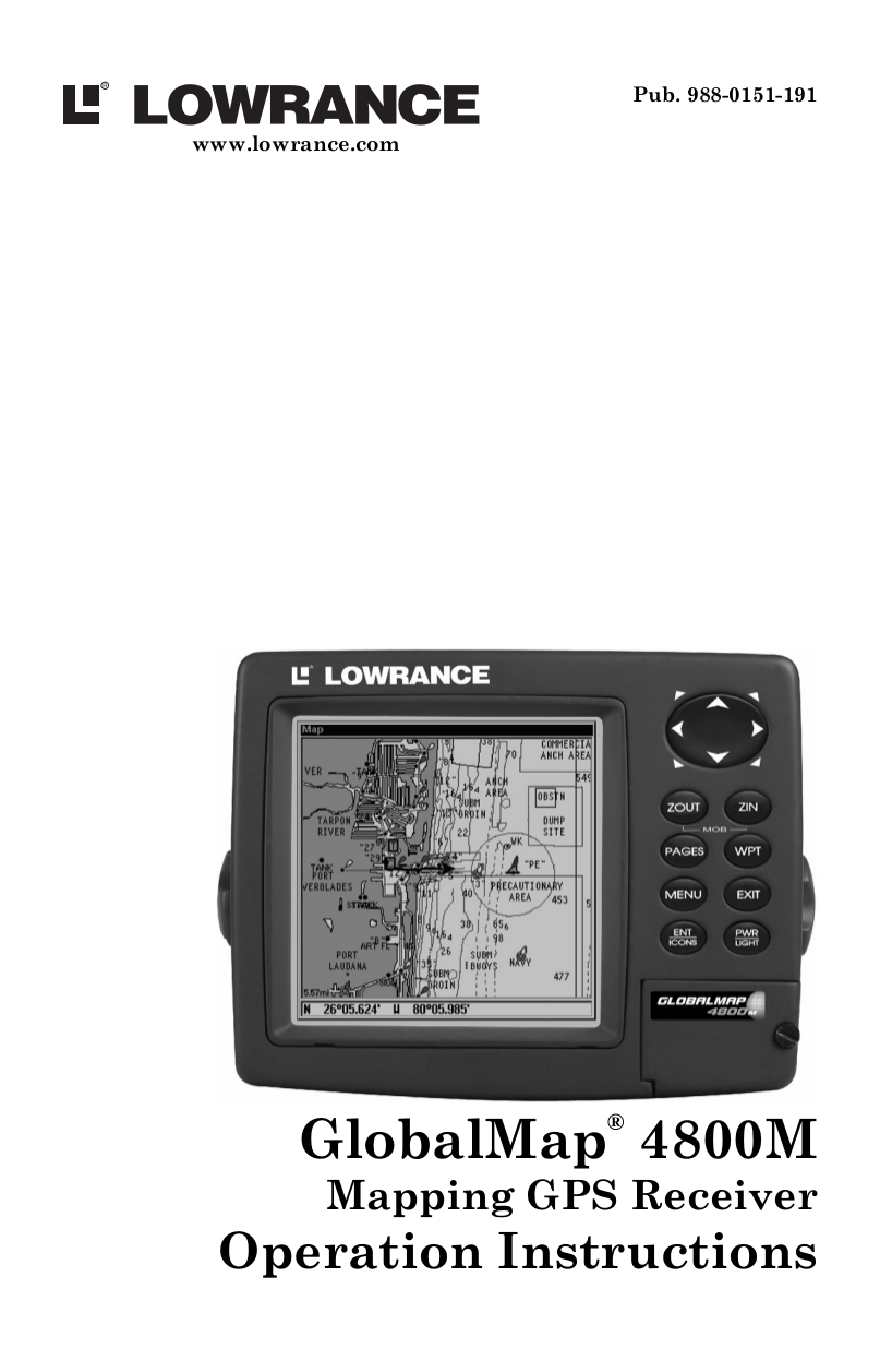 pdf for Lowrance GPS GlobalMap 7300C manual