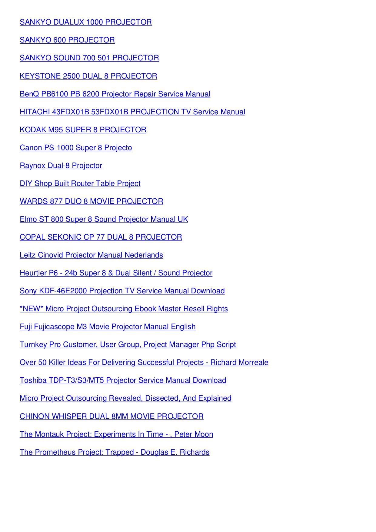 PDF manual for Sony Projector VPL-VW11HT