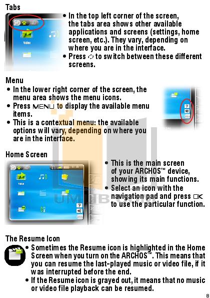 pdf manual for archos camcorders 404 rh umlib com Archos Gmini 402 Archos 404 Camcorder