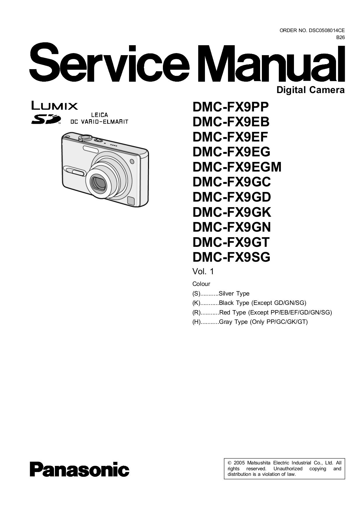 Panasonic dmc fx9 инструкция
