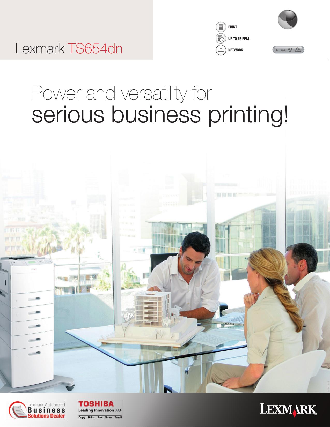 pdf for Lexmark Printer T652dn manual