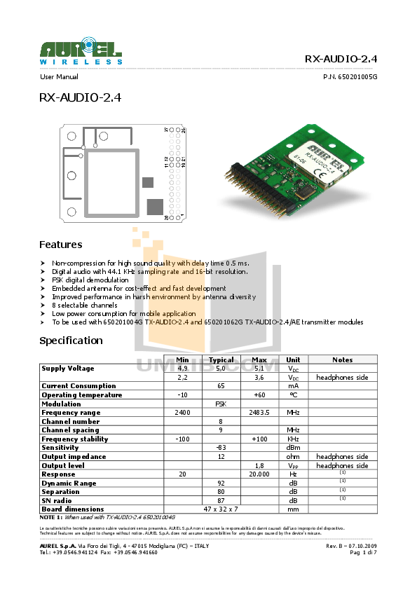 pdf for DEI Car Receiver 2400d manual