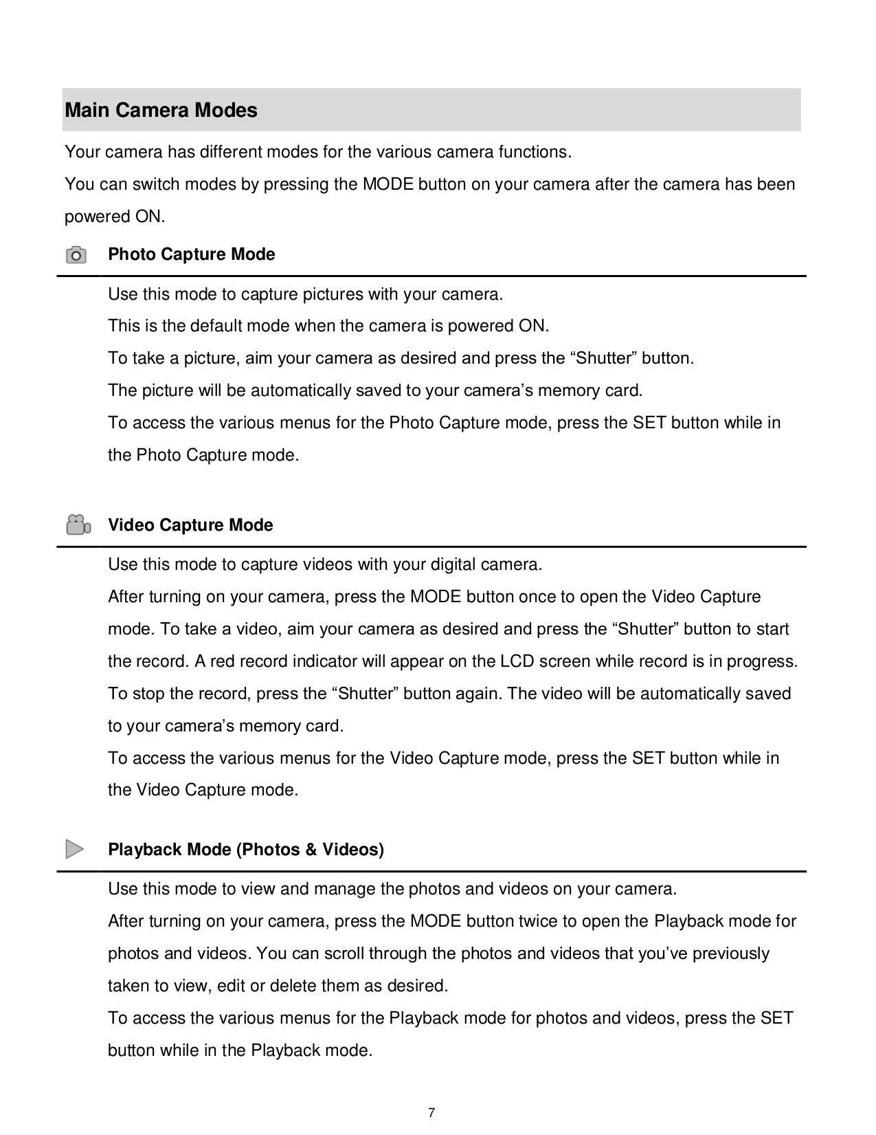... Vivitar Digital Camera Vivicam 7022 pdf page preview