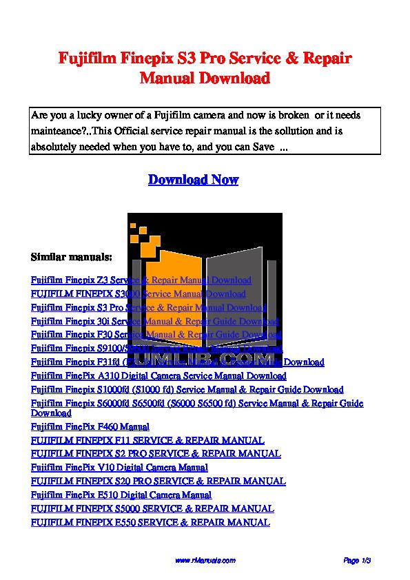 Инструкция к finepix s8000