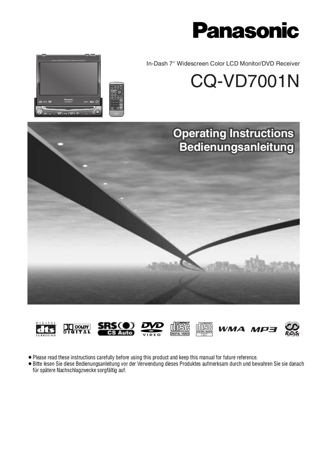 Pdf Manual For Panasonic Car Video Cq Vd7001u