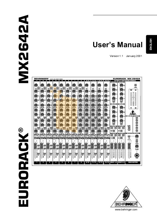 download free pdf for behringer eurodesk mx9000 mixers other manual rh umlib com behringer mx9000 manual español behringer mx9000 eurodesk mixer manual