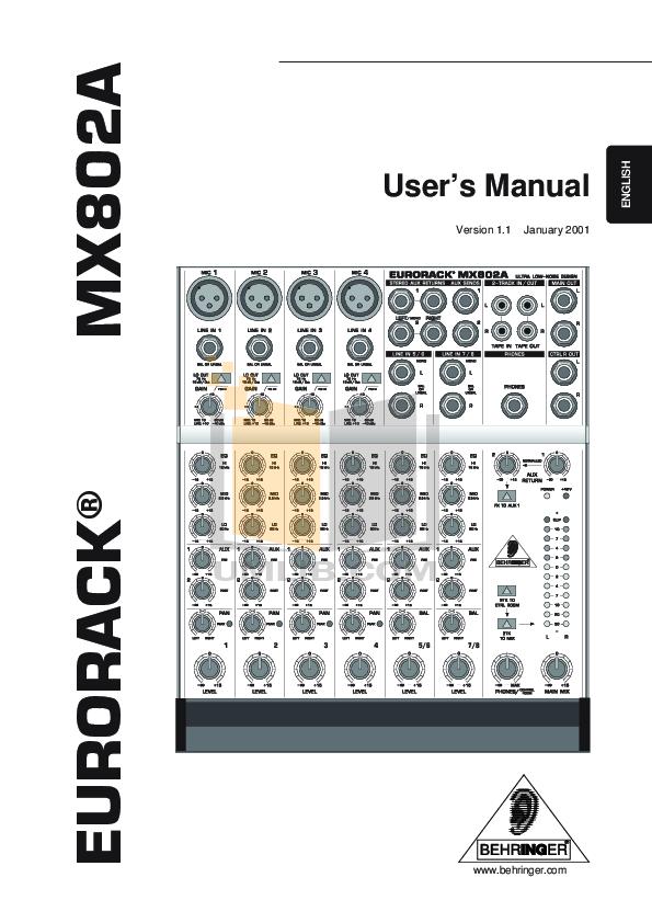 download free pdf for behringer eurodesk mx9000 mixers other manual rh umlib com behringer eurodesk mx9000 service manual behringer mx9000 review