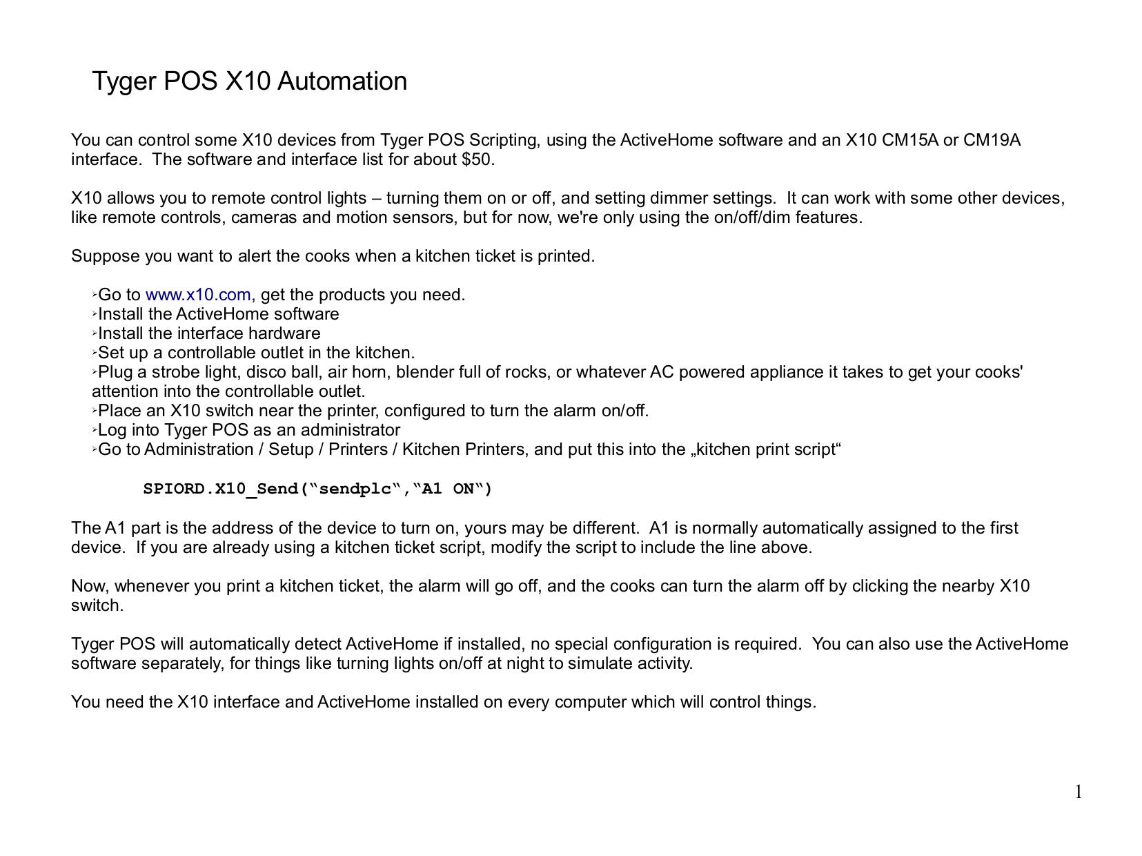 pdf for X10 Remote Control CM19A manual