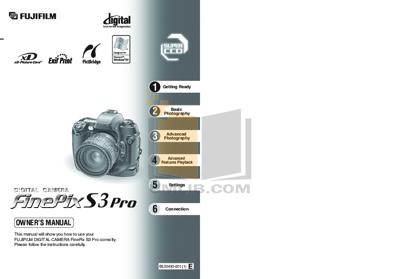 download free pdf for fujifilm finepix s3 pro digital camera manual rh umlib com fuji s3 pro manual download fuji s3 pro repair manual