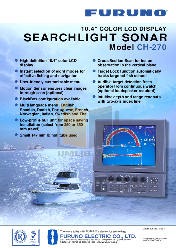 pdf for Furuno Other CH-28 Sonar manual
