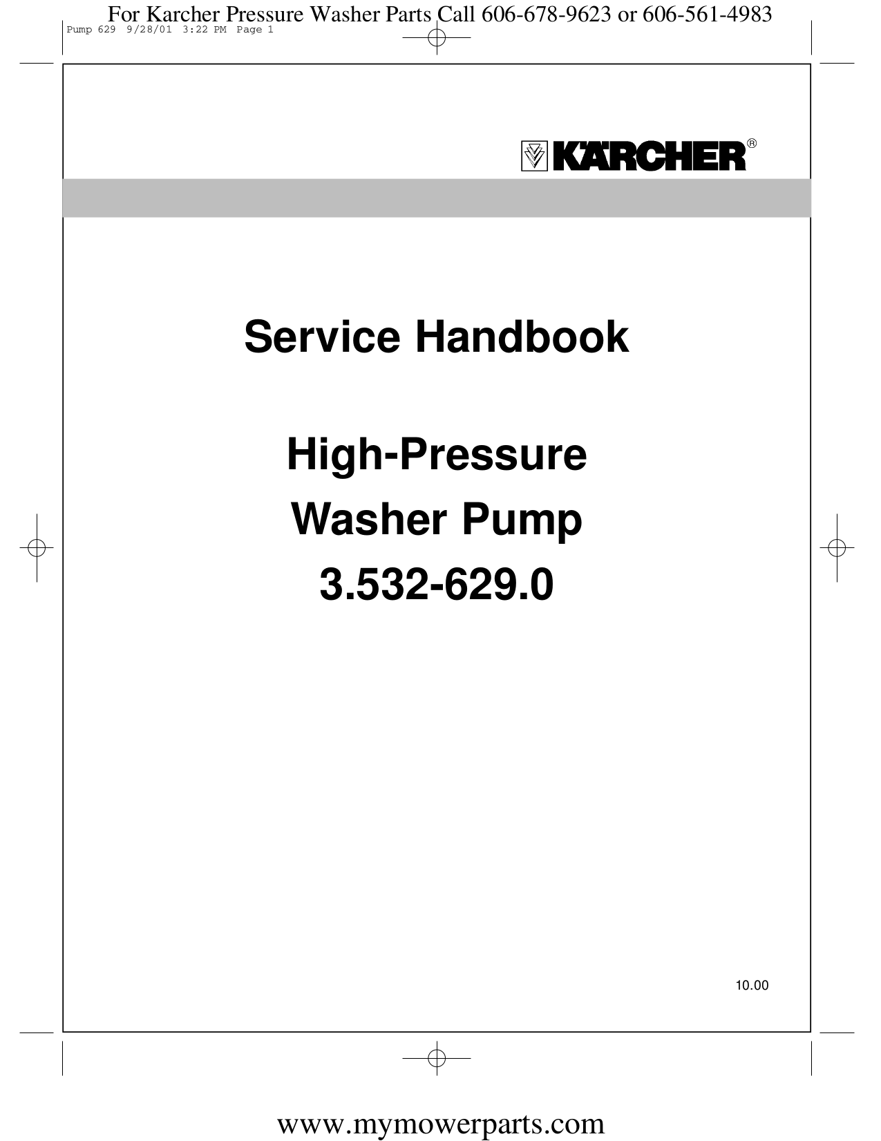 download free pdf for karcher k 2400 hh pressure washers other manual rh umlib com Karcher Service Manuals for K3 Karcher Service Manuals for K3