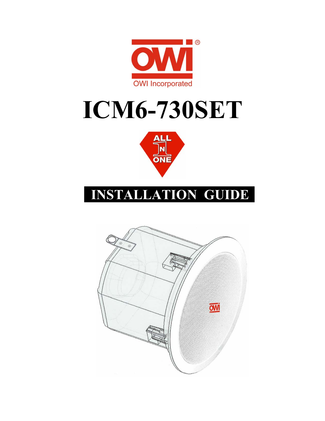 pdf for Owi Speaker ICM6-730 manual