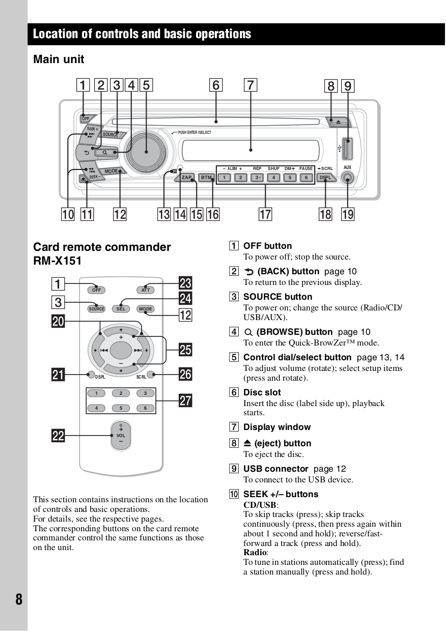 pdf manual for sony car receiver xplod cdx gt35u rh umlib com Sony Stereo Wiring Colors Sony Explode Car Stereo Wiring
