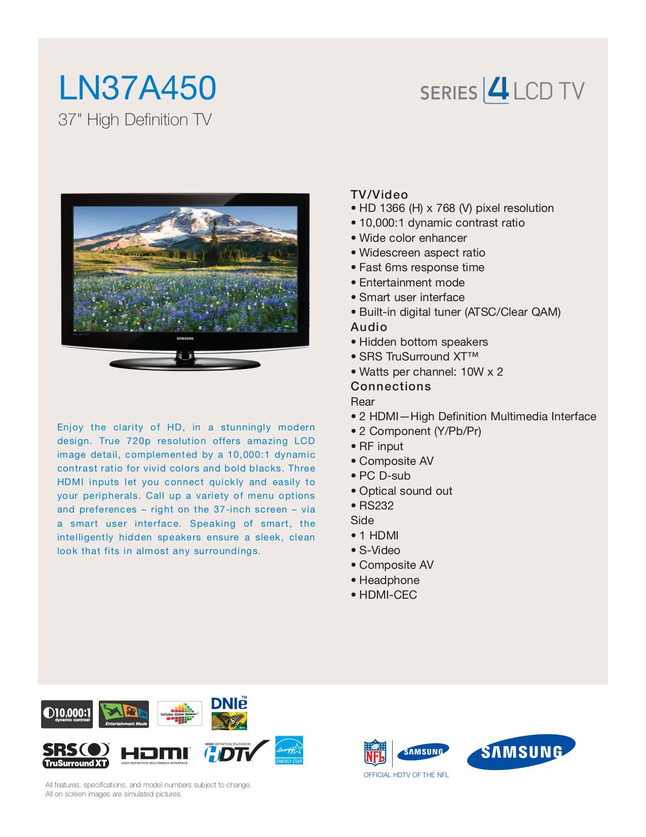 download free pdf for samsung ln37a450 tv manual rh umlib com Samsung User Manual Guide Samsung Galaxy S Manual