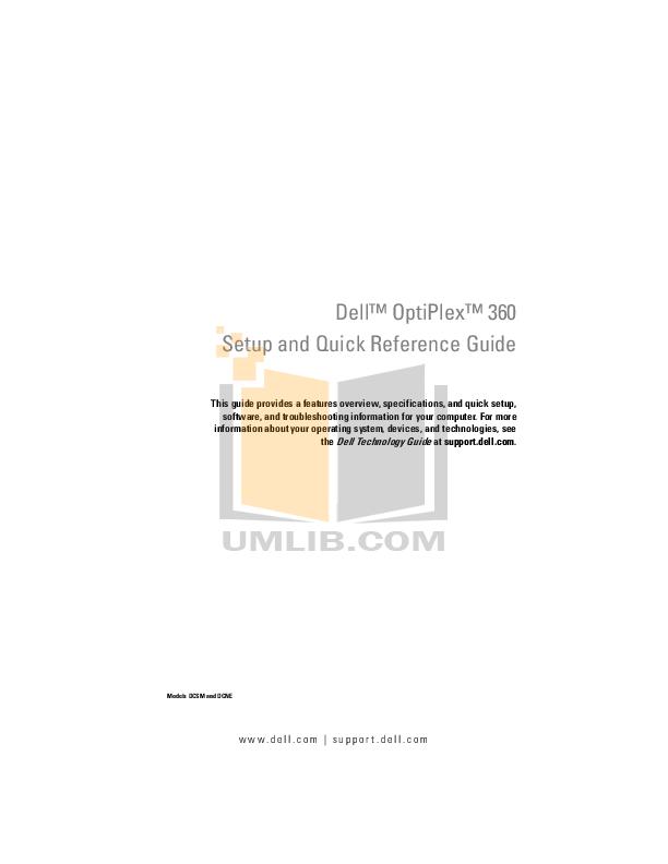 Download free pdf for Dell OptiPlex 360 MT Desktop manual