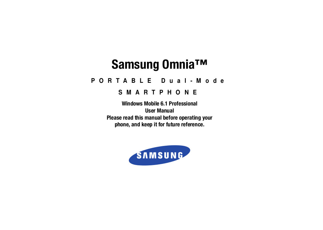 pdf for Samsung Cell Phone Omnia II manual