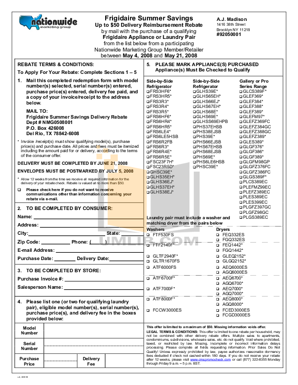pdf for Frigidaire Refrigerator FRS3HF6J manual