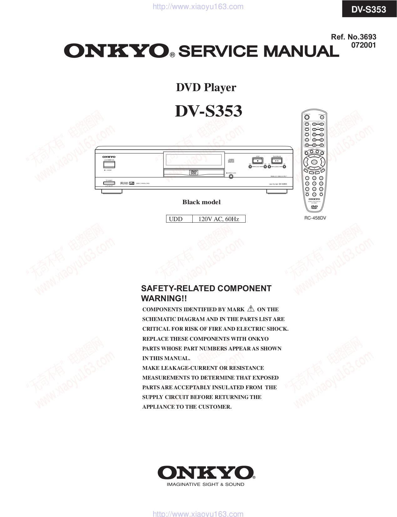 pdf for Onkyo DVD Players DV-S353 manual