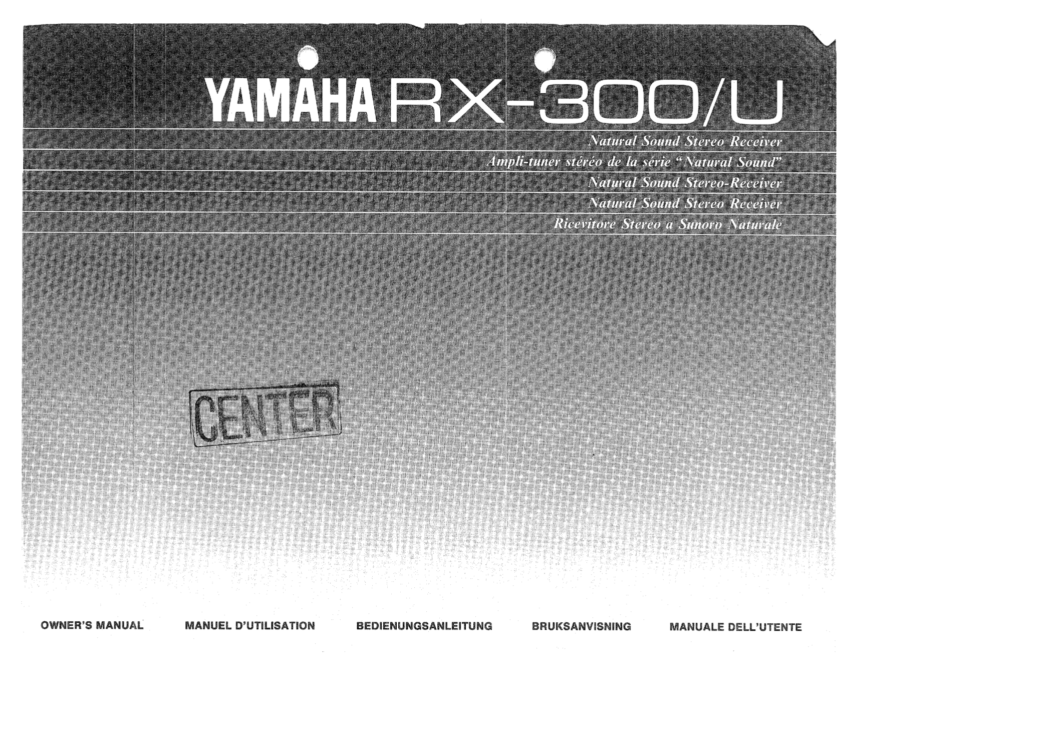 Download free pdf for yamaha rx 300u receiver manual for Yamaha rx 797 manual