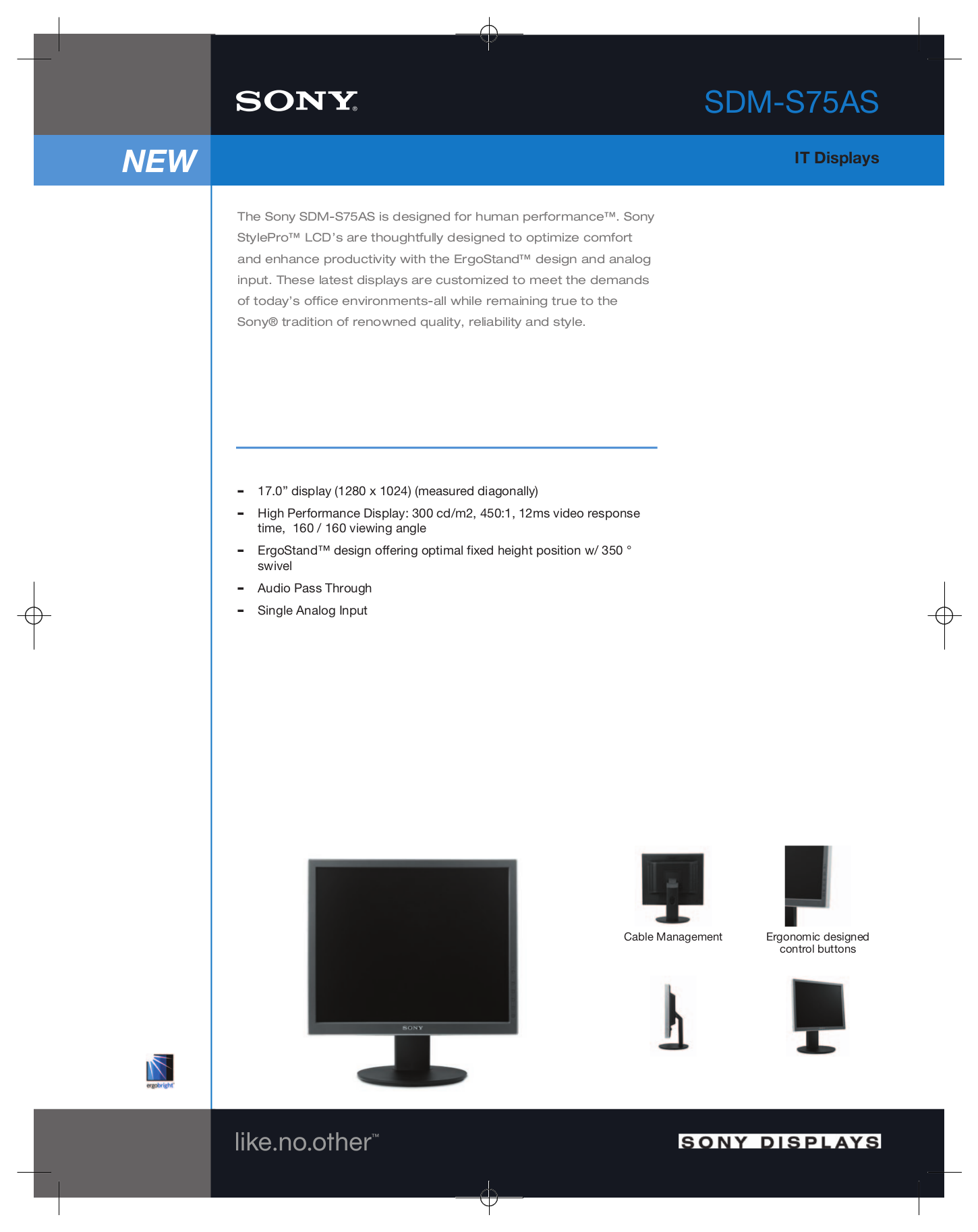 pdf for Sony Monitor SDM-S75AS manual