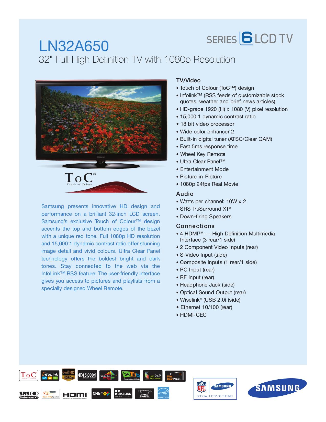 download free pdf for samsung ln32a650 tv manual rh umlib com Verizon Samsung Flip Phone Manual Samsung Owner's Manual