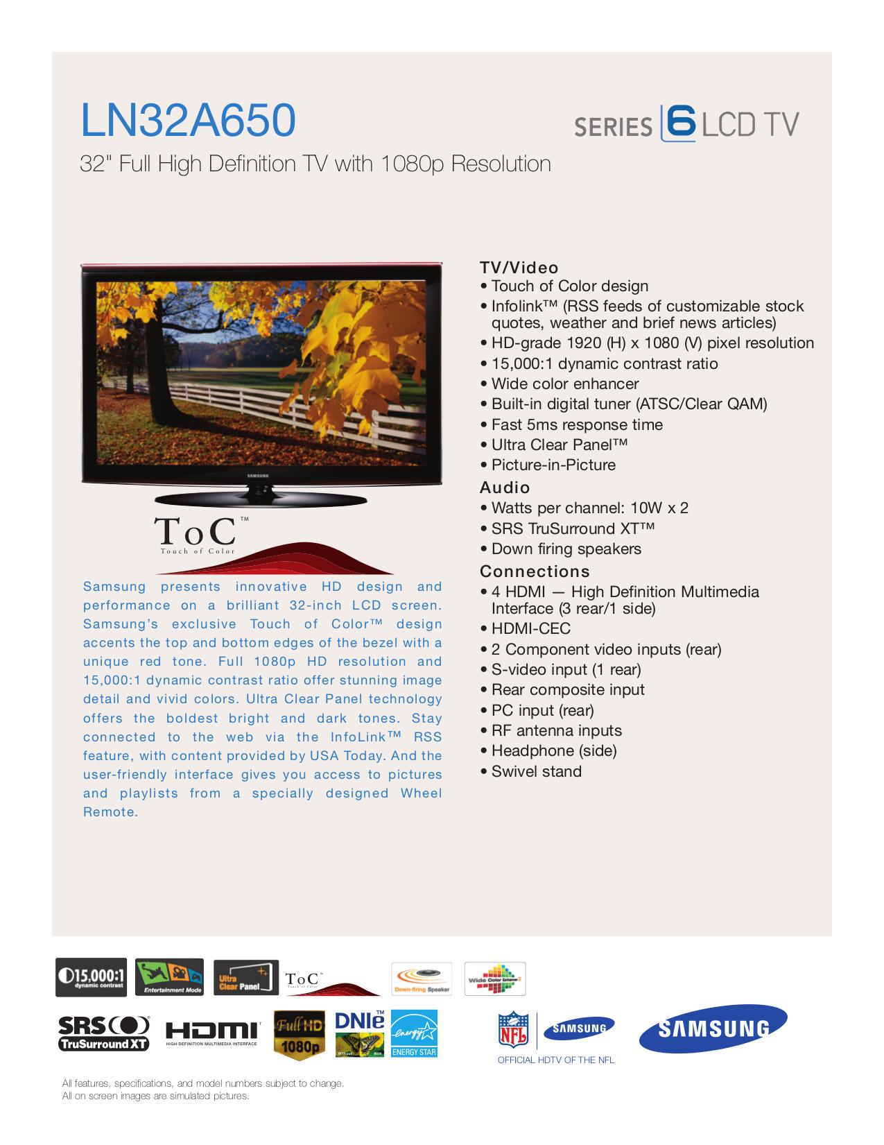 download free pdf for samsung ln32a650 tv manual rh umlib com Samsung Manual PDF Verizon Samsung Flip Phone Manual