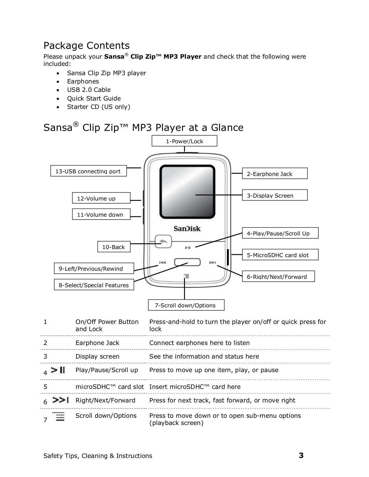 pdf manual for sandisk mp3 player sansa sansa clip zip 8gb rh umlib com SanDisk Sansa Clip Zip Problems SanDisk Clip Zip Screen