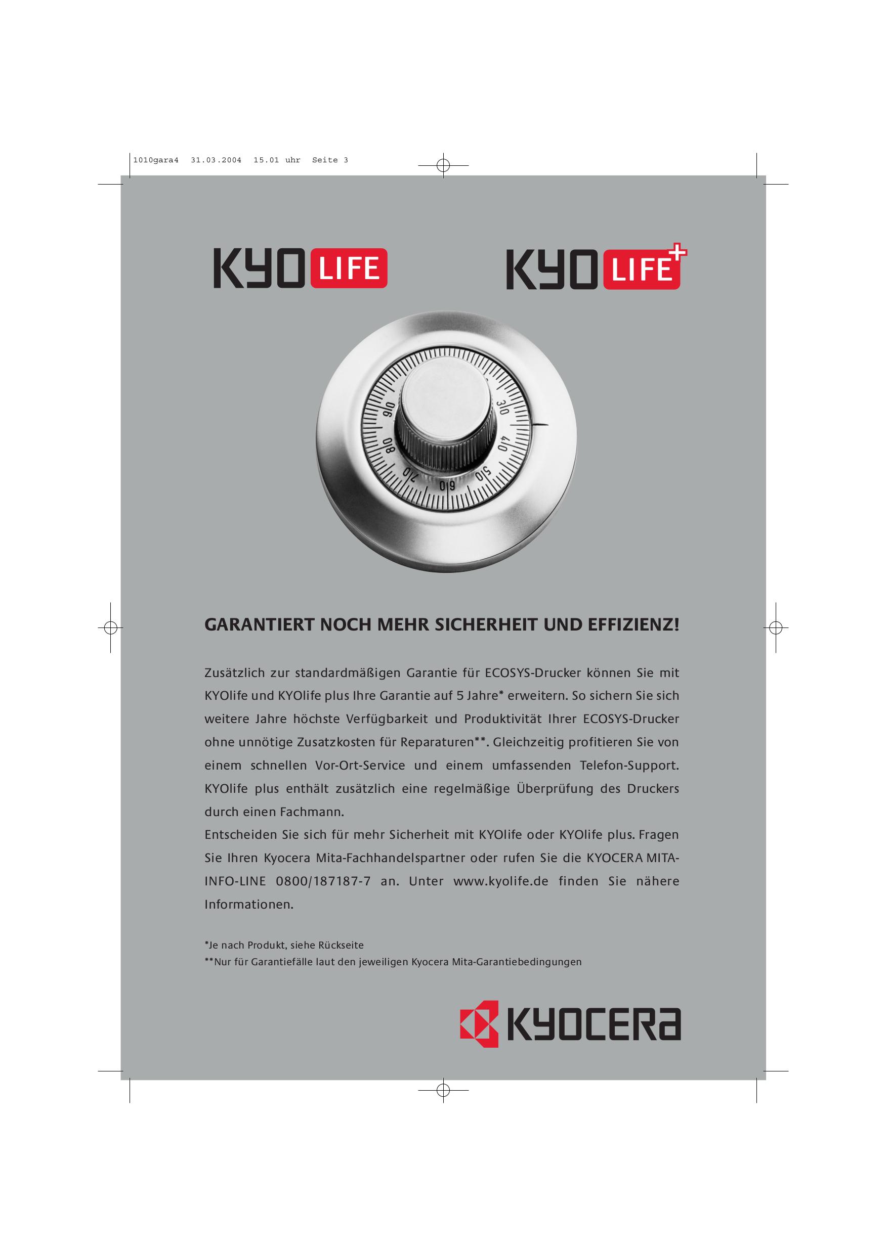 ... Kyocera Printer FS-1010 pdf page preview ...