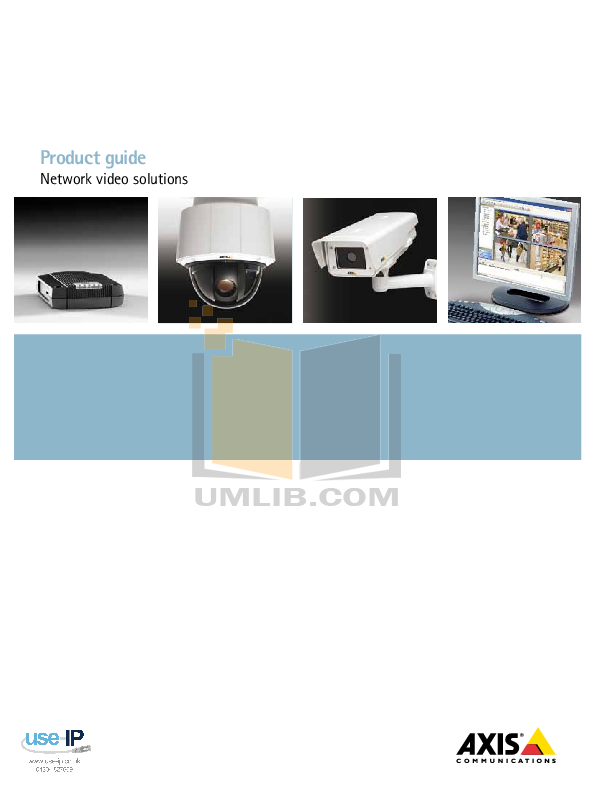 pdf for Axis Security Camera M3203 manual