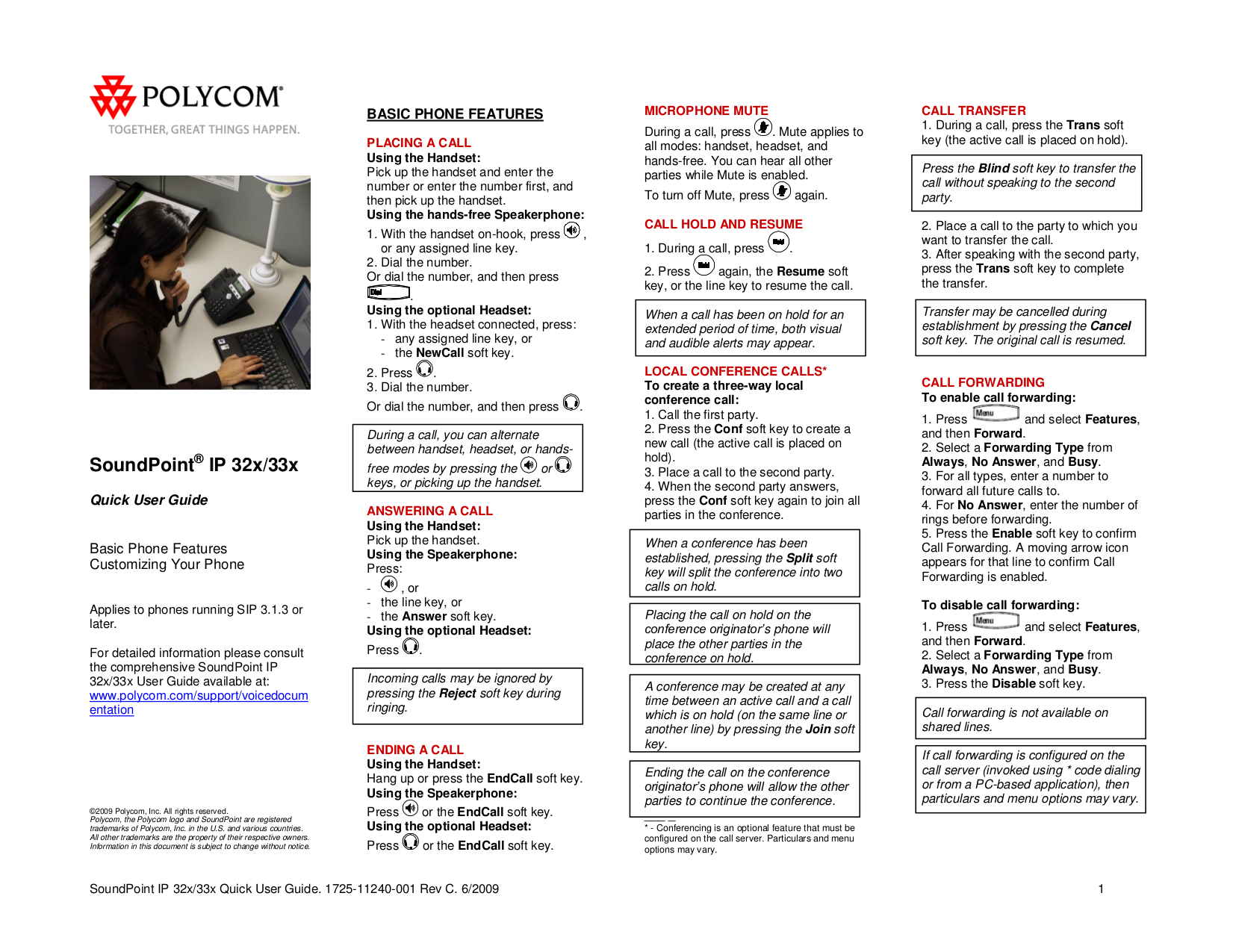 download free pdf for polycom soundpoint ip 331 telephone manual rh umlib com polycom soundpoint ip 331 quick user guide Polycom Conference Phone