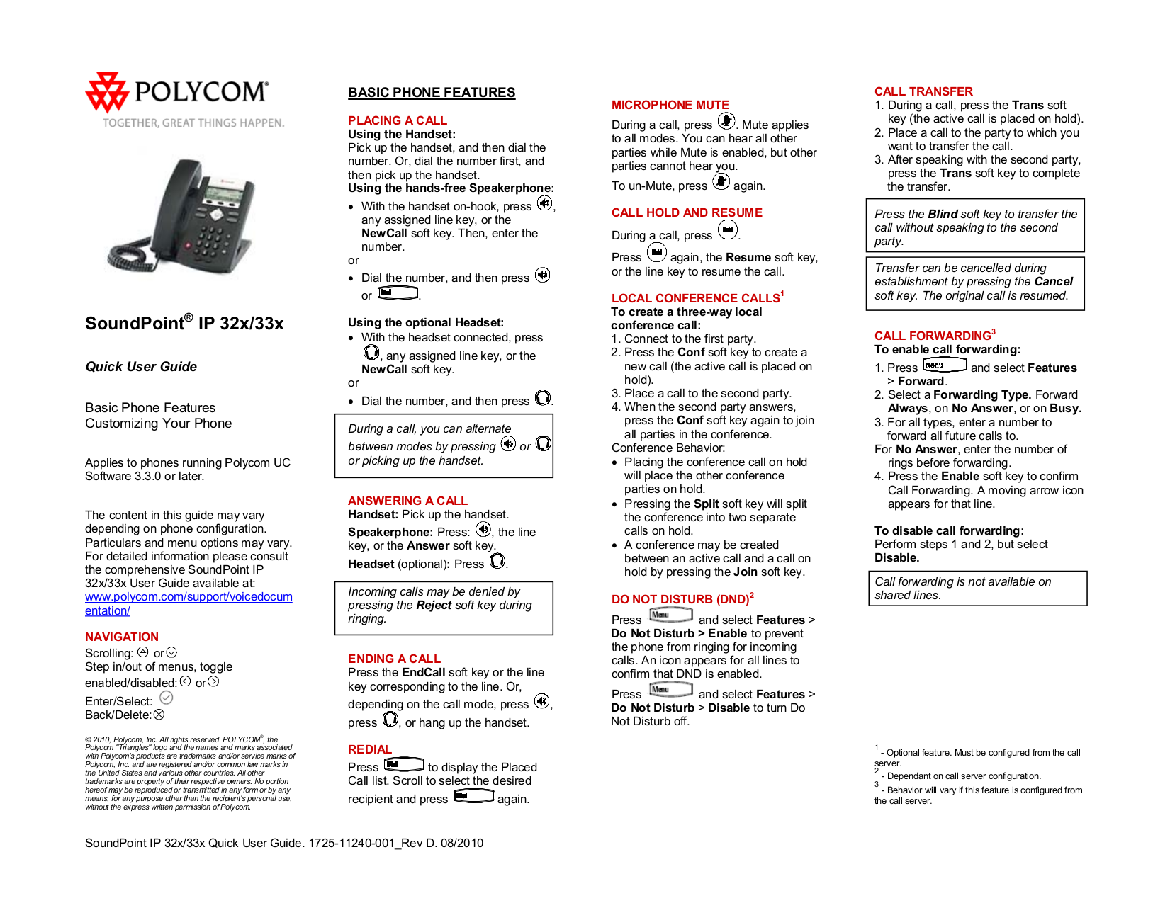 download free pdf for polycom soundpoint ip 331 telephone manual rh umlib com Headset for Polycom HD Voice Wireless Headset for Polycom SoundPoint