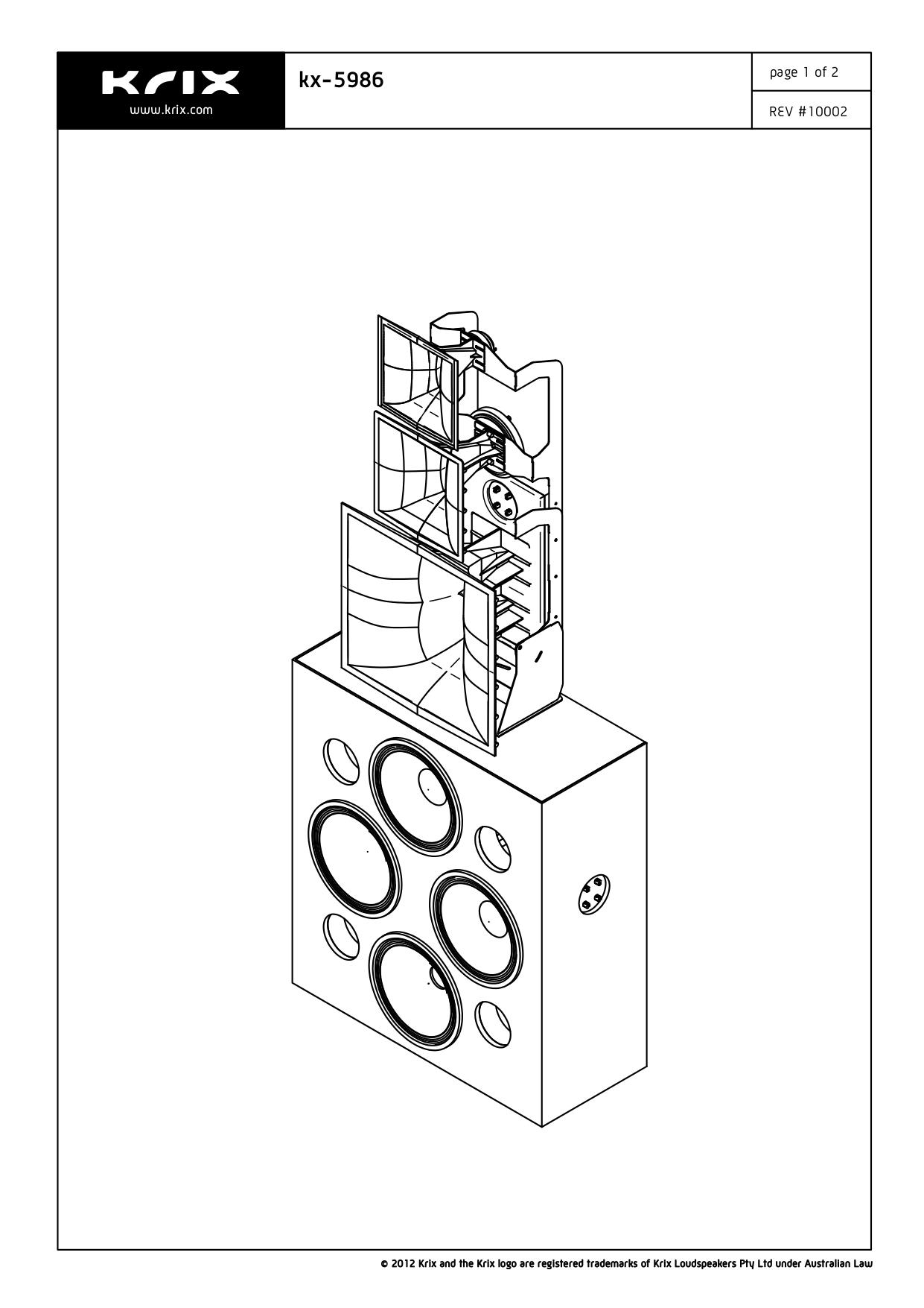 pdf for Krix Speaker KX-5986 manual