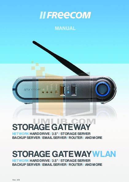 pdf for Freecom Storage Network Mediaplayer-45 manual