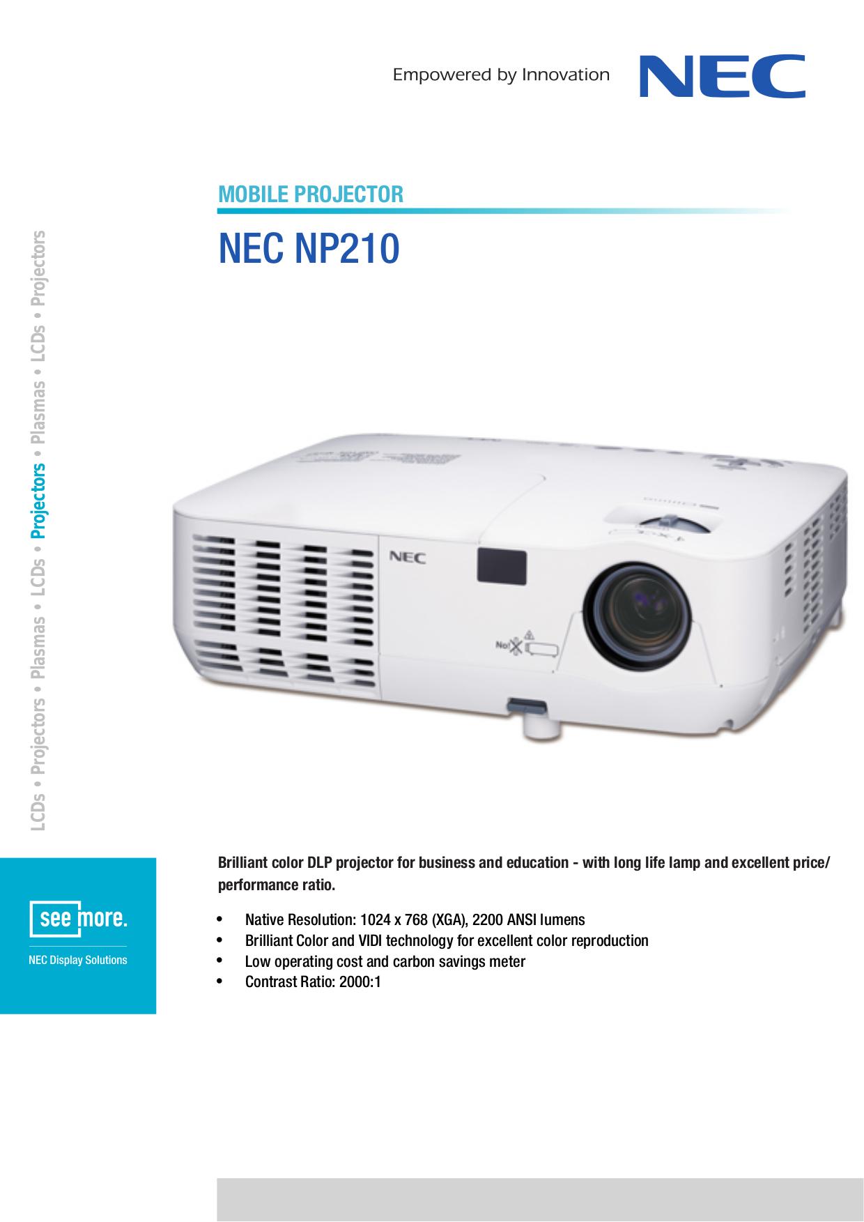 nec np215 manual daily instruction manual guides u2022 rh testingwordpress co NEC Projector Ports NEC Projector Ports