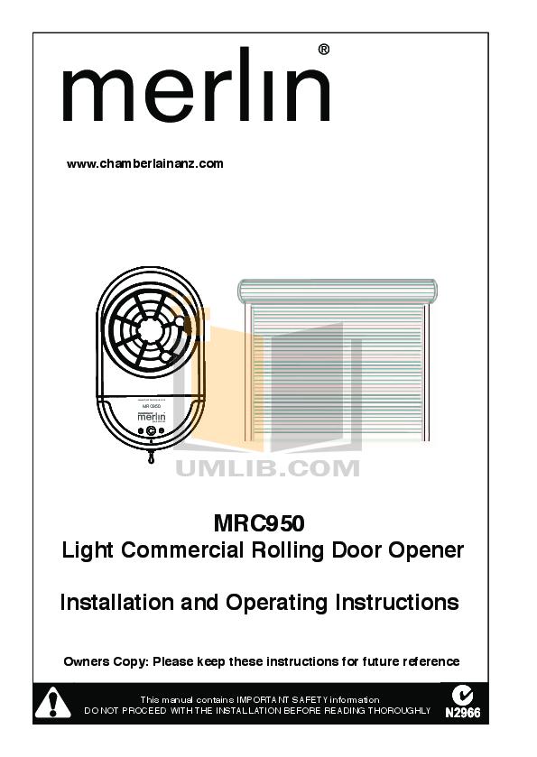 garage door installation manual pdf
