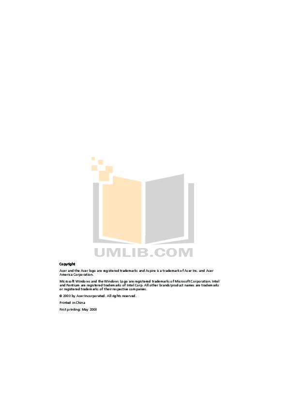 pdf for Acer Desktop Aspire RC500L manual