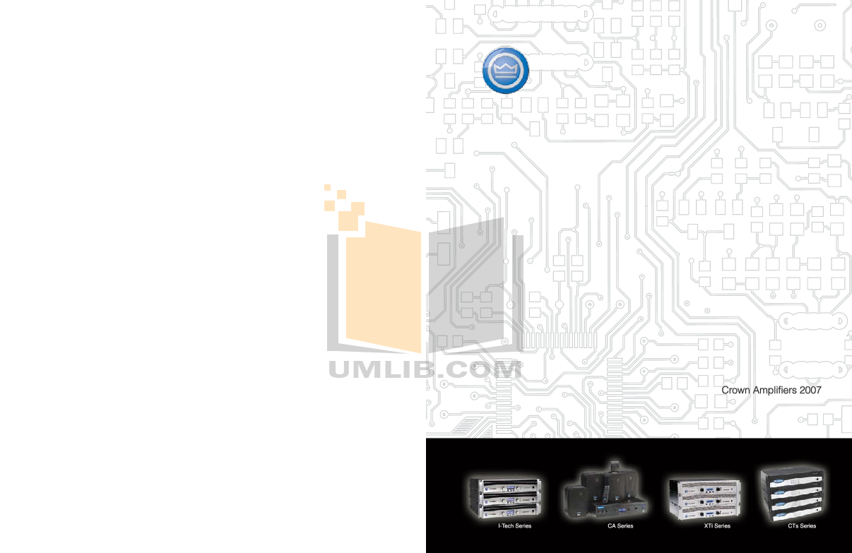 pdf for Crown Other IQ-MC4A IQ control modules manual