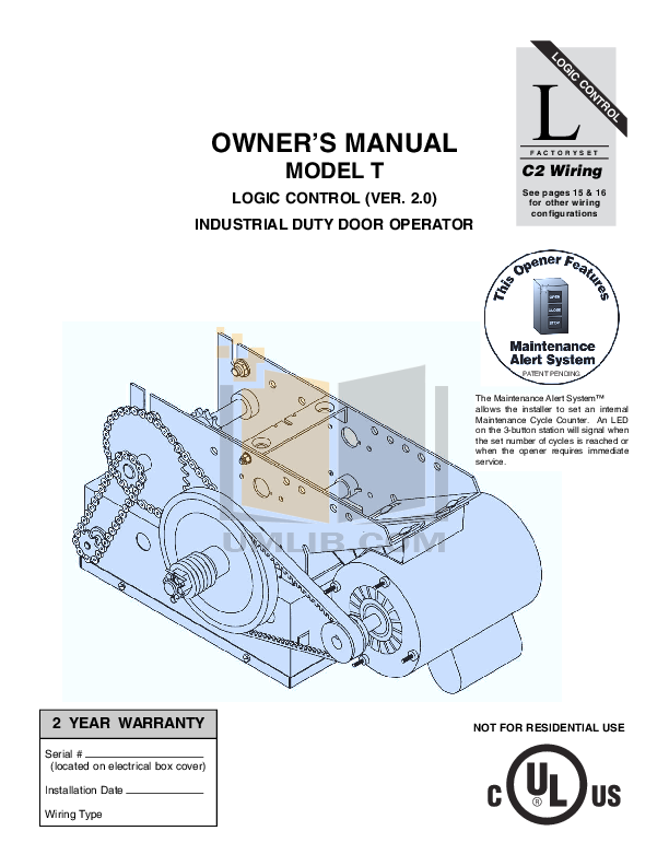 Download liftmaster 1573 manual free backupercity - Liftmaster garage door opener manual ...