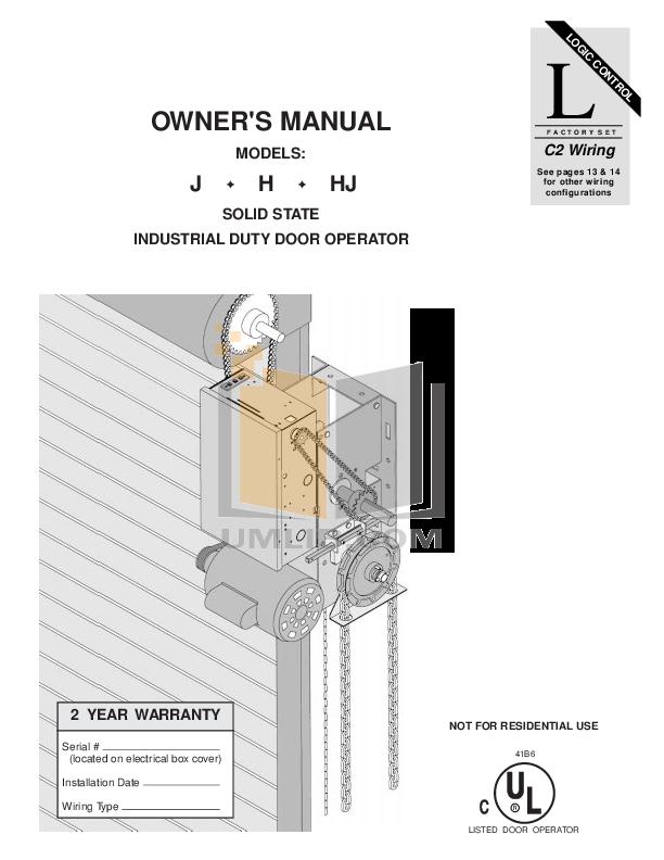 chamberlain garage door opener instruction manual
