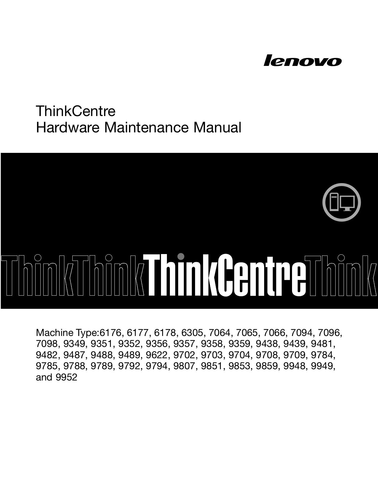 pdf for Lenovo Desktop ThinkCentre M57e 7098 manual
