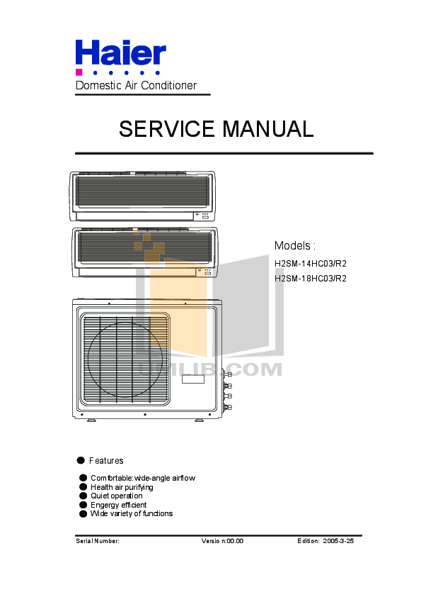 pdf for Haier Refrigerator HR-62 manual
