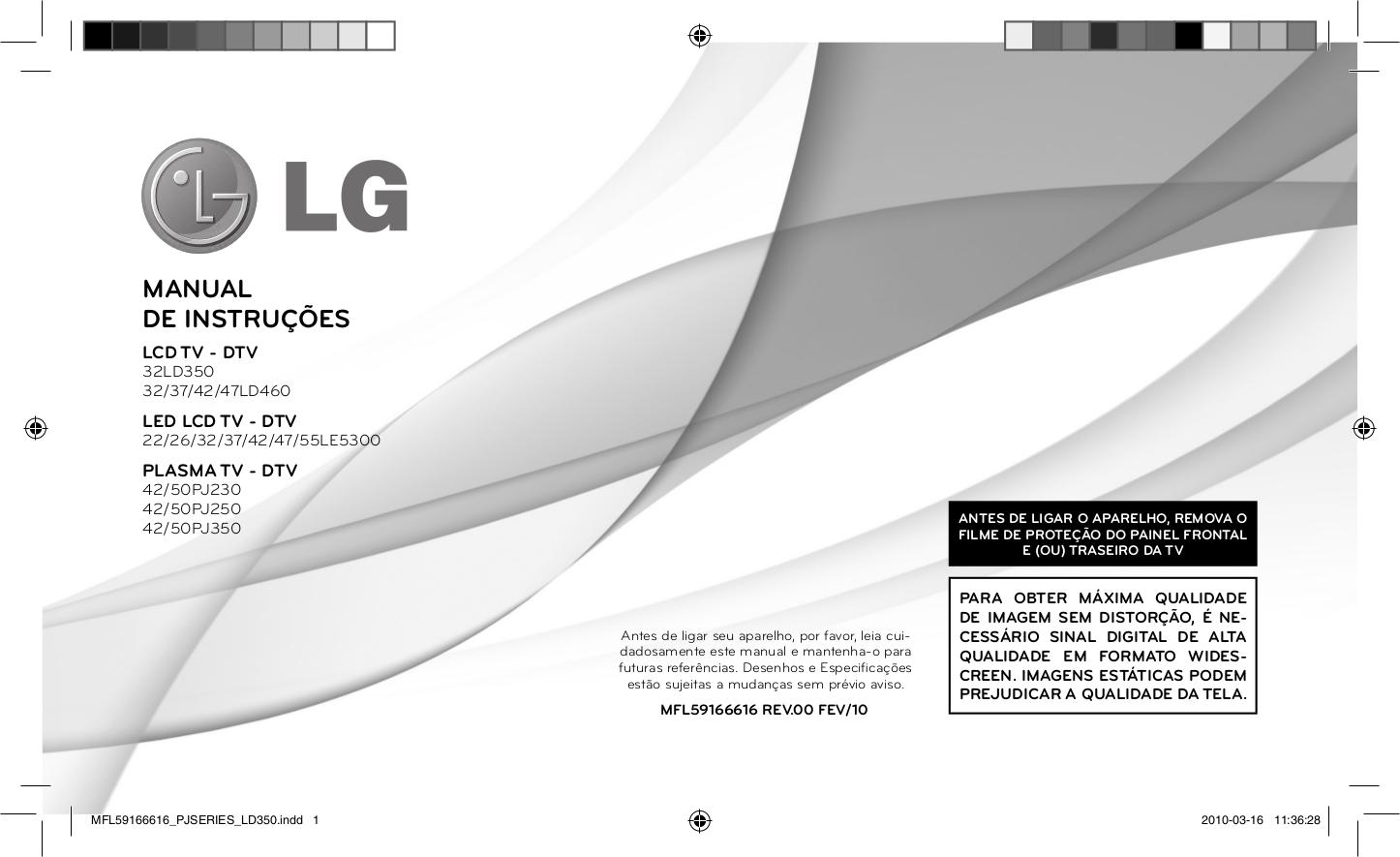 pdf for LG TV 42LD460 manual
